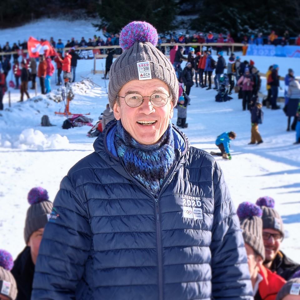 Pendant les JOJ2020, les responsables d'agence ont pu accueillir leurs clients lors d'événements particuliers, comme ici à la Vallée de Joux pour le ski de fond.